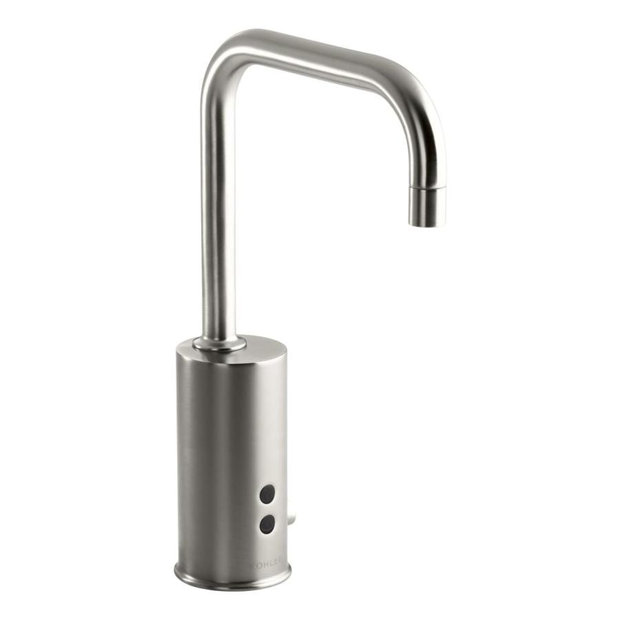 Shop Kohler Vibrant Stainless Single Hole Commercial Bathroom Faucet At
