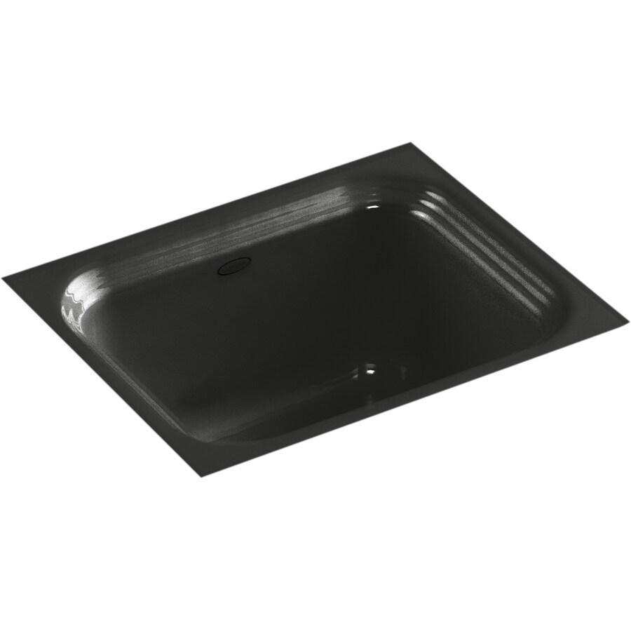KOHLER Northland Caviar Cast Iron Undermount Commercial/Residential Bar Sink