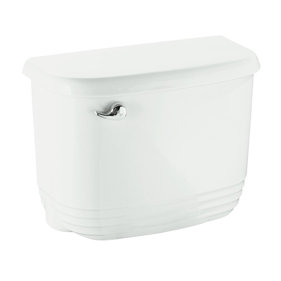 Sterling Riverton White 1.28-GPF (4.85-LPF) 12-in Rough-In Single-Flush High-Efficiency Toilet Tank