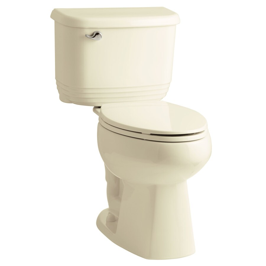 Sterling Riverton 1.28-GPF Biscuit WaterSense Dual-Flush Elongated Chair Height 2-Piece Toilet
