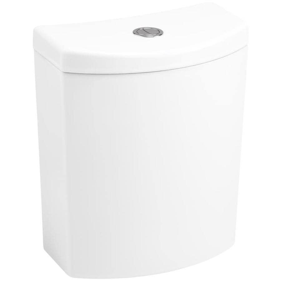 KOHLER Persuade White 1.6-GPF 12-in Rough-In Dual-Flush High-Efficiency Toilet Tank