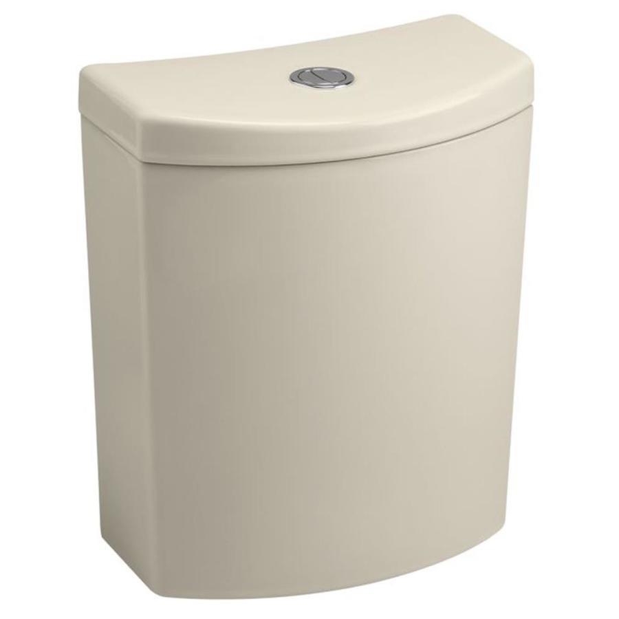 KOHLER Persuade Curv Almond 1.6-GPF Dual-Flush High-Efficiency Toilet Tank