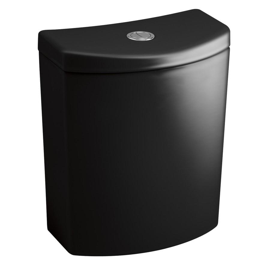 KOHLER Persuade Black Black 1.6; 1.0-GPF 12-in Rough-In Dual-Flush High-Efficiency Toilet Tank