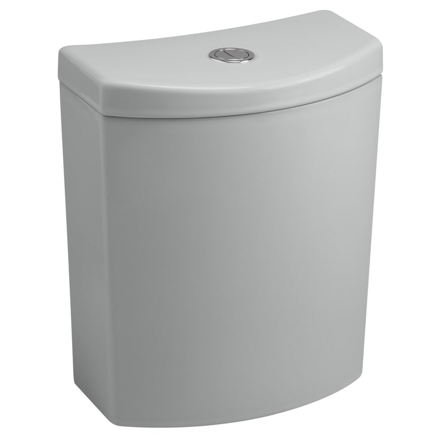KOHLER Persuade Ice Grey 1.6; 1.0-GPF 12-in Rough-In Dual-Flush High-Efficiency Toilet Tank