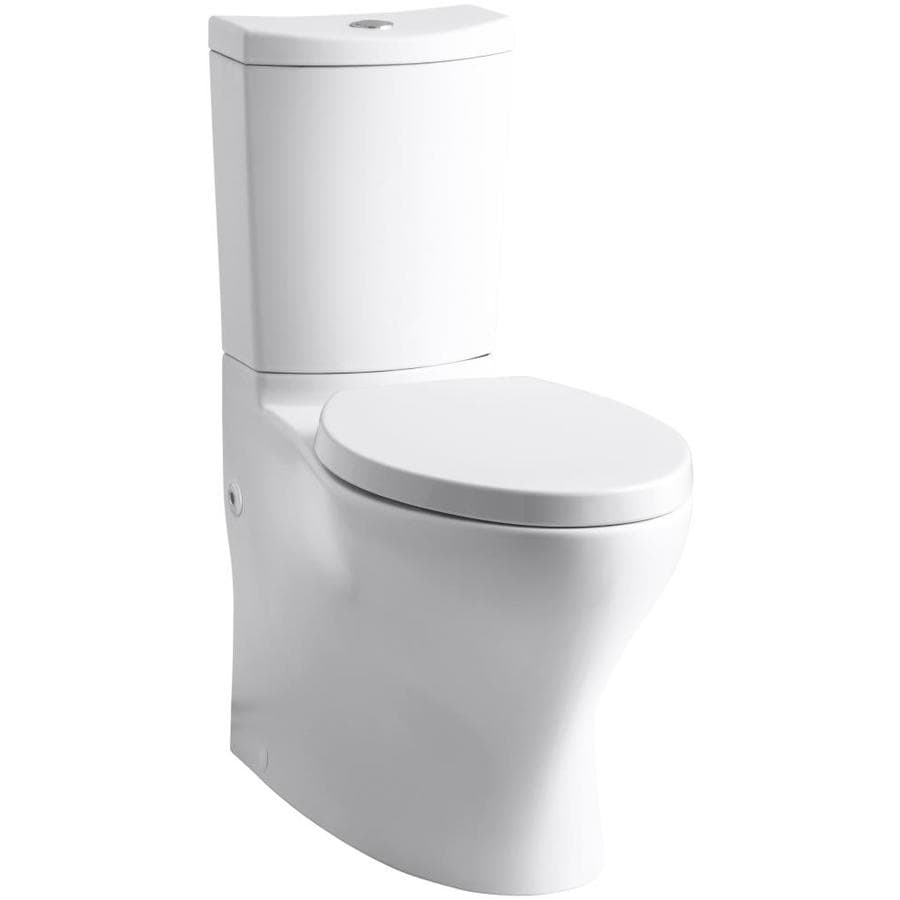 KOHLER Persuade 1.6-GPF (6.06-LPF) White WaterSense Dual-Flush Elongated Standard Height 2-Piece Toilet