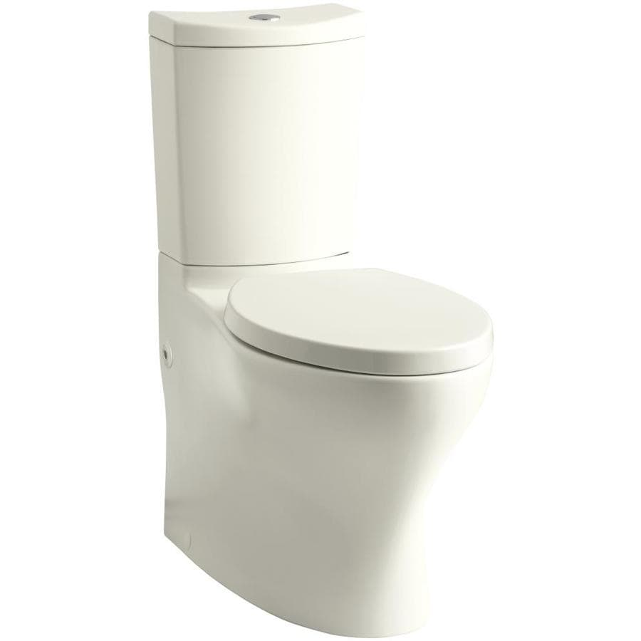 KOHLER Persuade Biscuit 1.6-GPF 12 Rough-In WaterSense Elongated Dual-Flush 2-Piece Chair Height Toilet