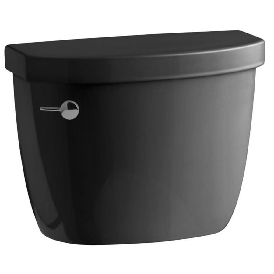 KOHLER Cimarron Black Black 1.28-GPF Single-Flush High-Efficiency Toilet Tank