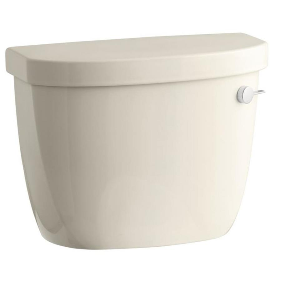 KOHLER Cimarron Almond 1.28-GPF Single-Flush High-Efficiency Toilet Tank