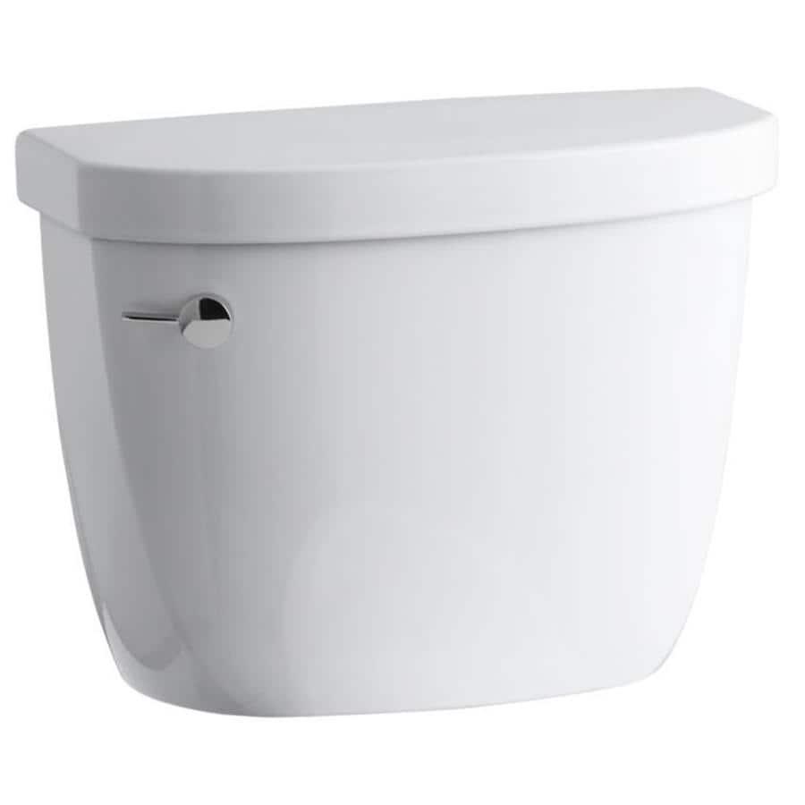 KOHLER Cimarron White 1.28-GPF (4.85-LPF) 12 Rough-In Single-Flush High-Efficiency Toilet Tank
