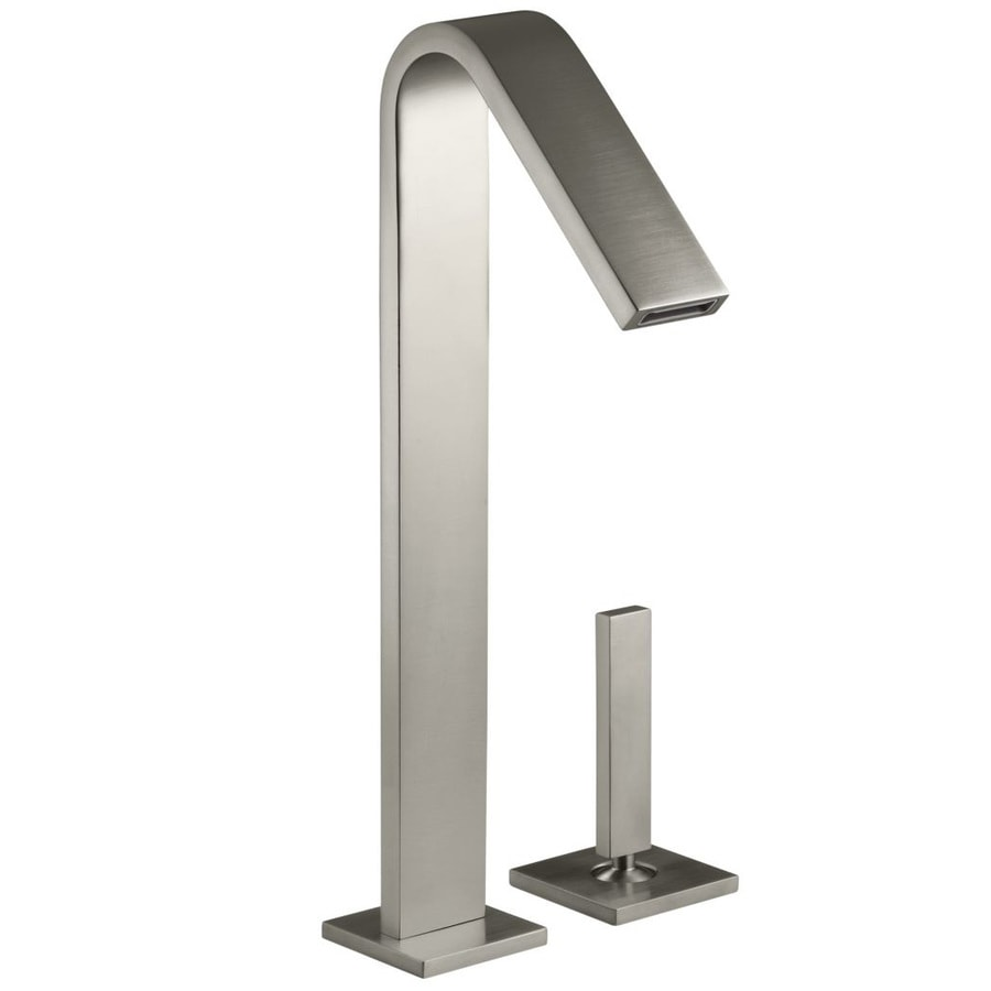 KOHLER Loure Vibrant Brushed Nickel 1-Handle 2-Hole WaterSense Bathroom Faucet (Drain Included)