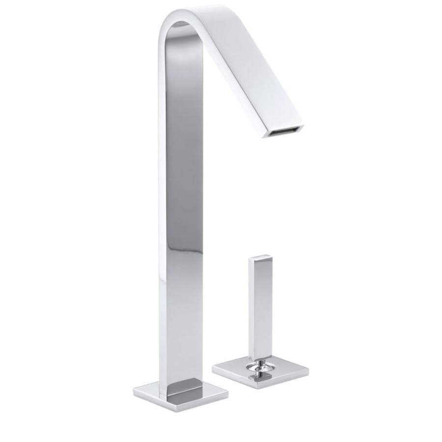 KOHLER Loure Polished Chrome 1-Handle 2-Hole WaterSense Bathroom Faucet (Drain Included)