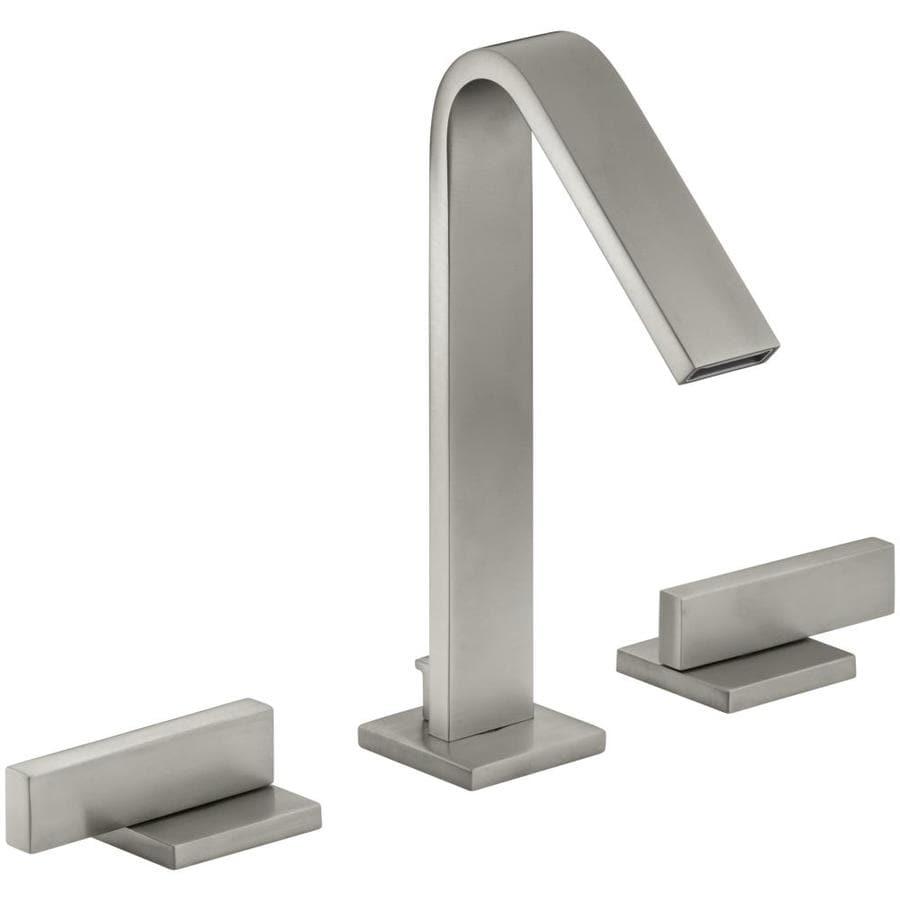 KOHLER Loure Vibrant Brushed Nickel 2-Handle Widespread WaterSense Bathroom Faucet (Drain Included)