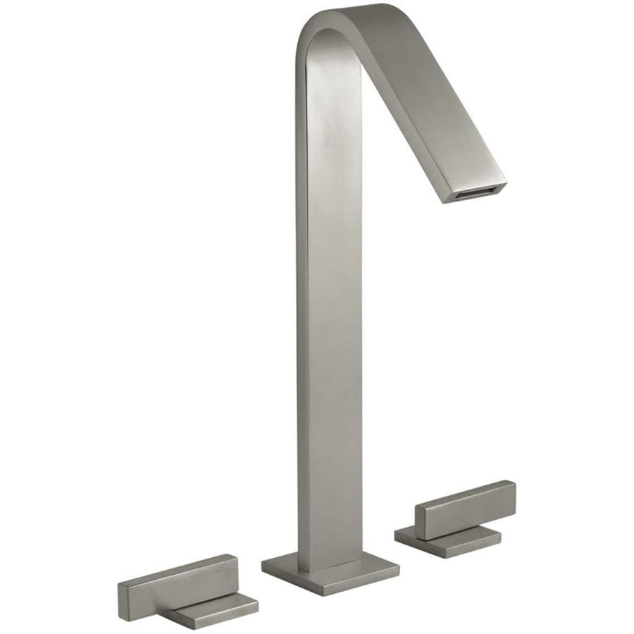 Shop KOHLER Loure Vibrant Brushed Nickel 2 Handle Widespread Bathroom Faucet