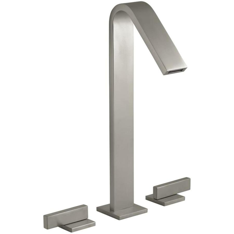 KOHLER Loure Vibrant Brushed Nickel 2-Handle Widespread Bathroom Faucet