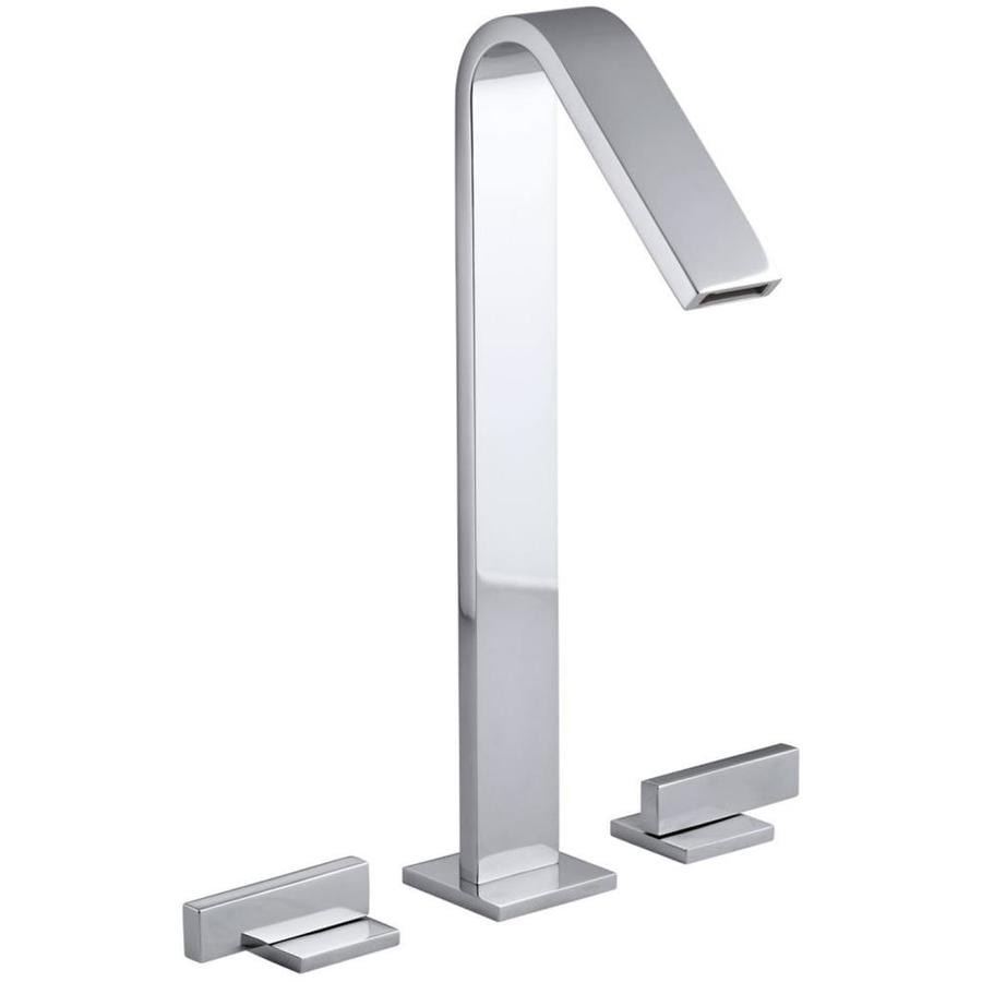 KOHLER Loure Polished Chrome 2-Handle Widespread WaterSense Bathroom Faucet (Drain Included)