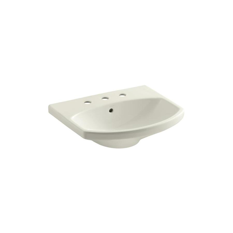 KOHLER Cimarron Biscuit Vessel Elliptical Bathroom Sink with Overflow