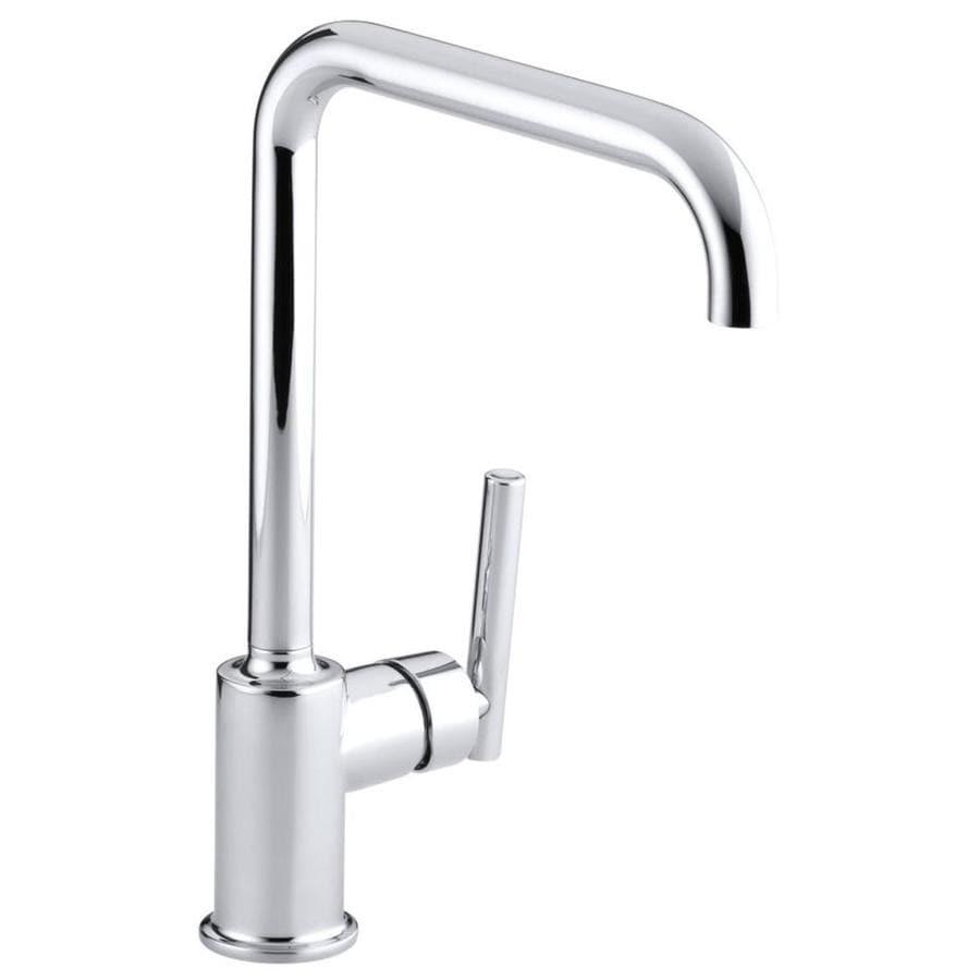 KOHLER Purist Polished Chrome 1-Handle High-Arc Kitchen Faucet