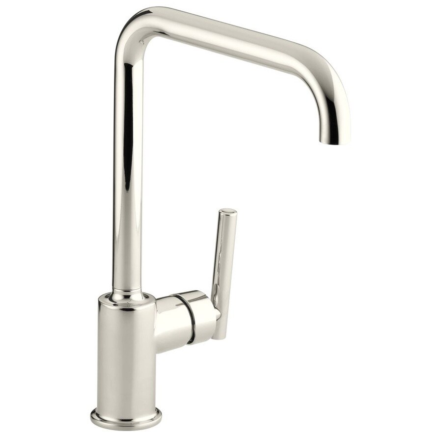 shop kohler purist vibrant polished nickel 1 handle high