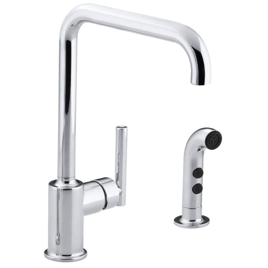 KOHLER Purist Polished Chrome 1-Handle High-Arc Kitchen Faucet