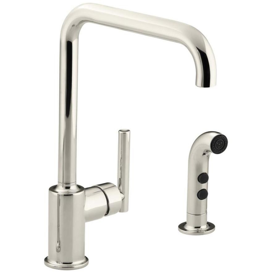 KOHLER Purist Vibrant Polished Nickel 1-Handle High-Arc Kitchen Faucet