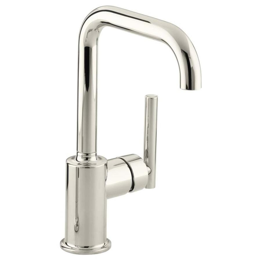 Kohler Purist Vibrant Polished Nickel 1 Handle Deck Mount High Arc