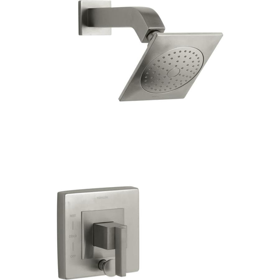 KOHLER Loure Vibrant Brushed Nickel 1-Handle Shower Faucet Trim Kit with Single Function Showerhead