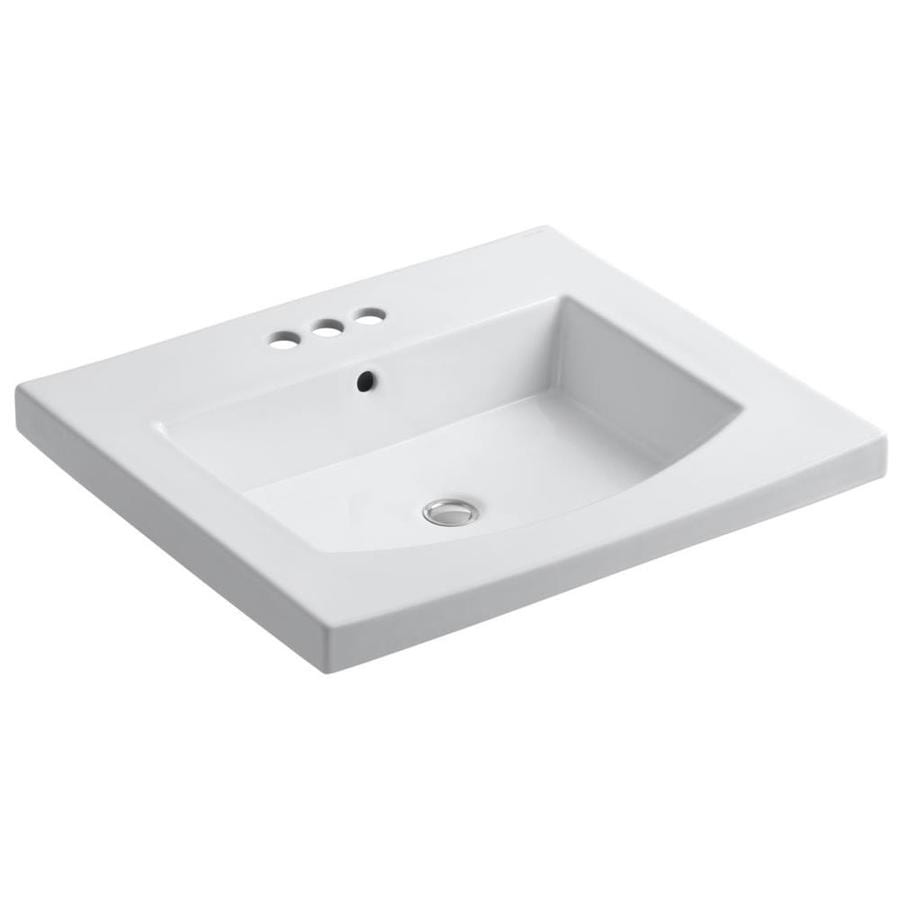 Shop kohler persuade l x 22 in w white cast iron for Cast iron sink manufacturers