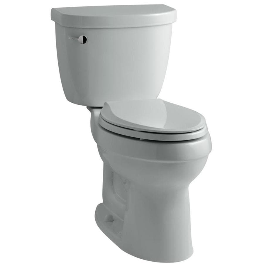 KOHLER Cimarron Ice Grey WaterSense Labeled  Elongated Standard Height 2-piece Toilet 12-in Rough-In Size
