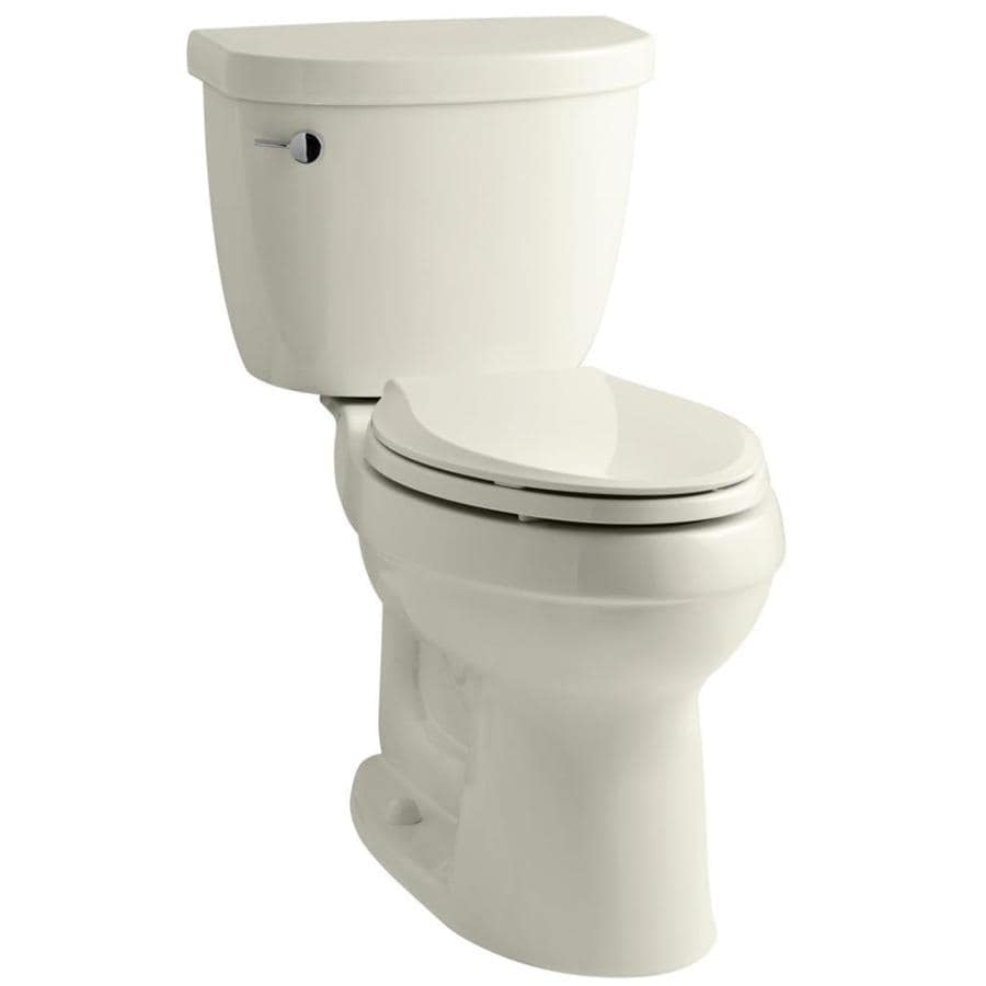 KOHLER Cimarron 1.28 Biscuit WaterSense Elongated Standard Height 2-Piece Toilet