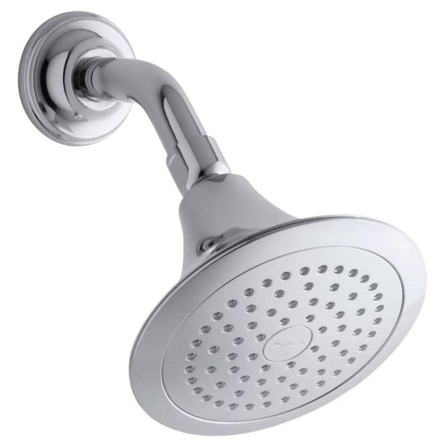 KOHLER Forte 5.5-in 2.5-GPM (9.5-LPM) Polished Chrome 1-Spray Showerhead