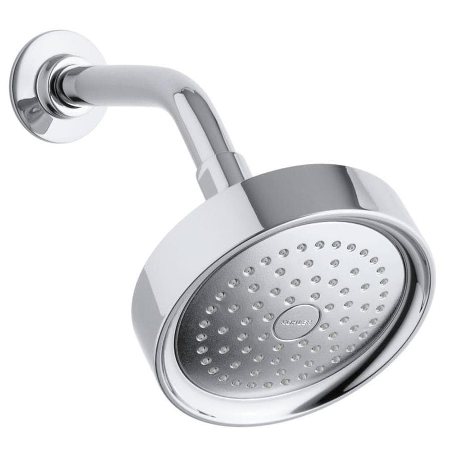 KOHLER Purist 5.5-in 2.5-GPM (9.5-LPM) Polished Chrome 1-Spray Showerhead