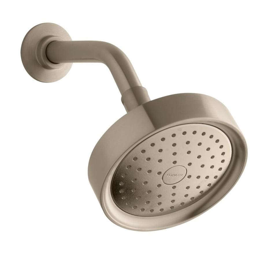 KOHLER Purist 5.5-in 2.5-GPM (9.5-LPM) Vibrant Brushed Bronze 1-Spray Showerhead