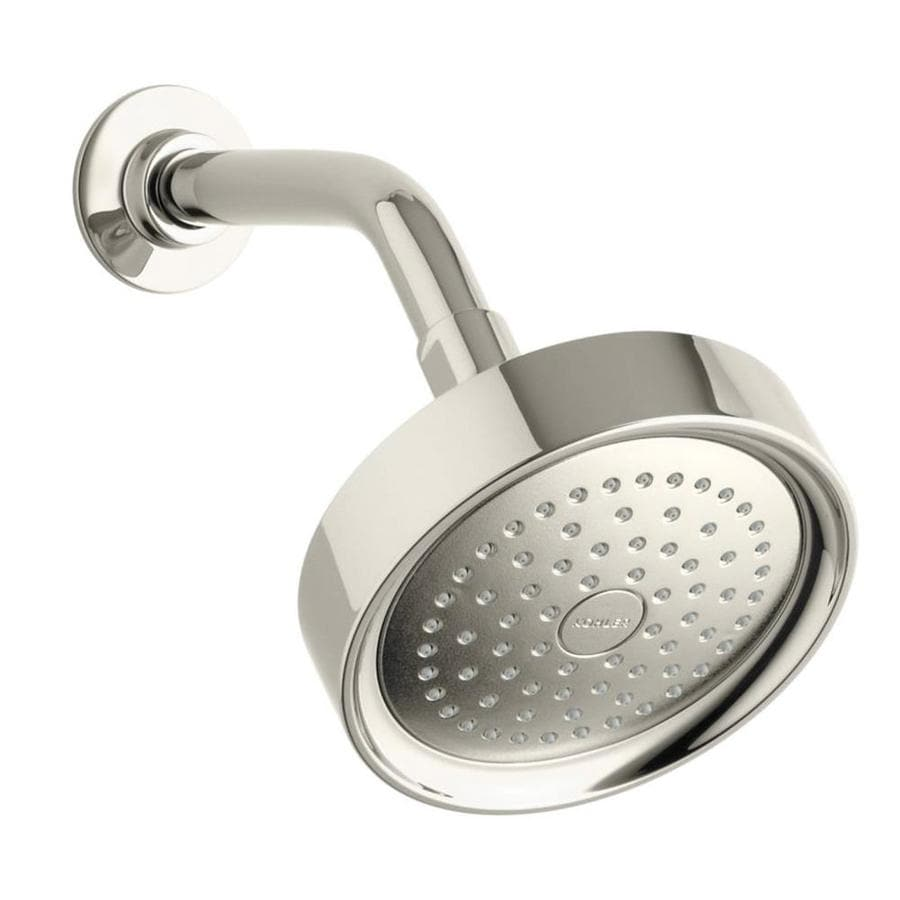 KOHLER Purist 5.5-in 2.5-GPM (9.5-LPM) Vibrant Polished Nickel 1-Spray Showerhead