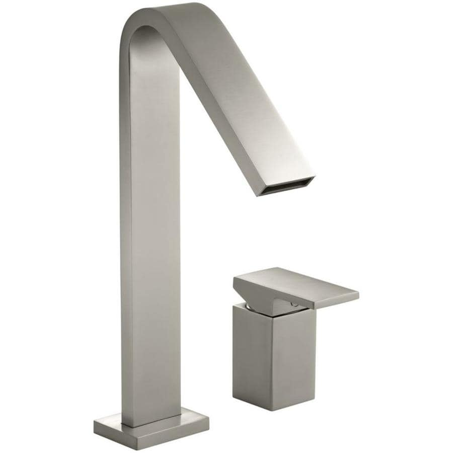 KOHLER Loure Vibrant Brushed Nickel 1-Handle Single Hole/4-in Centerset Bathroom Faucet