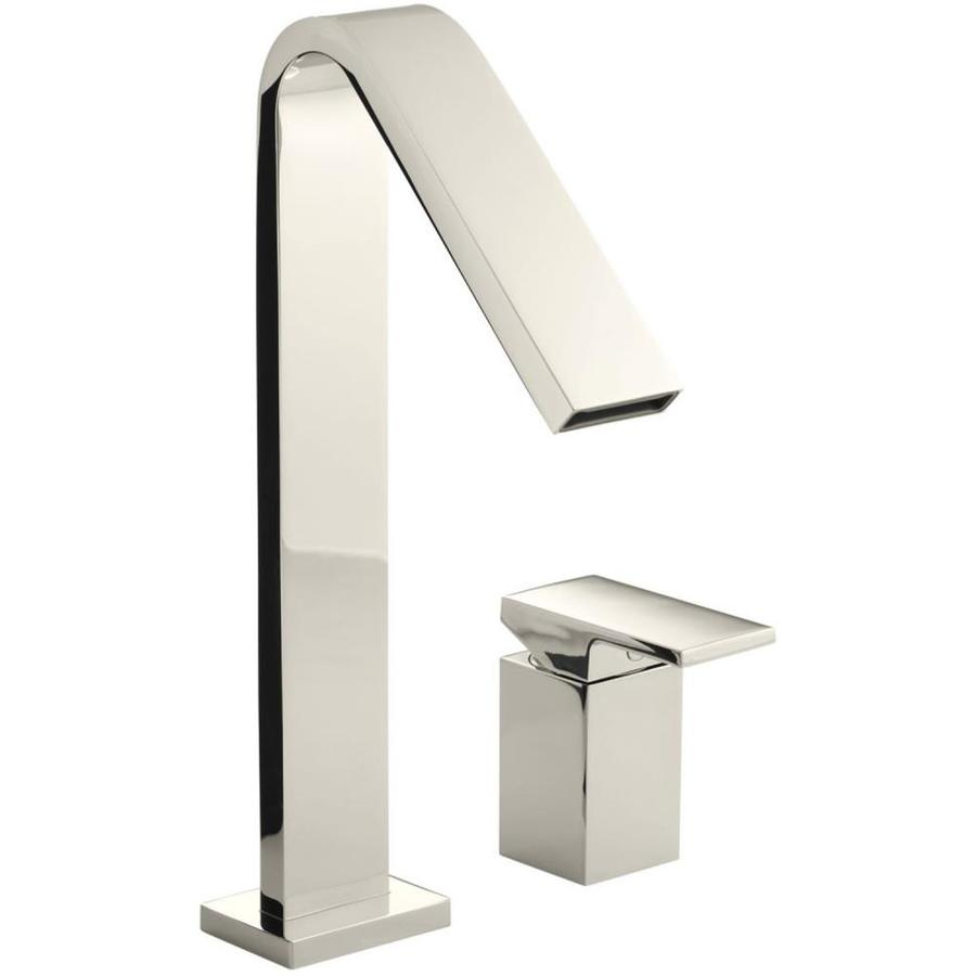 Shop Kohler Loure Vibrant Polished Nickel 1 Handle Single Hole 4 In Centerset Bathroom Faucet At