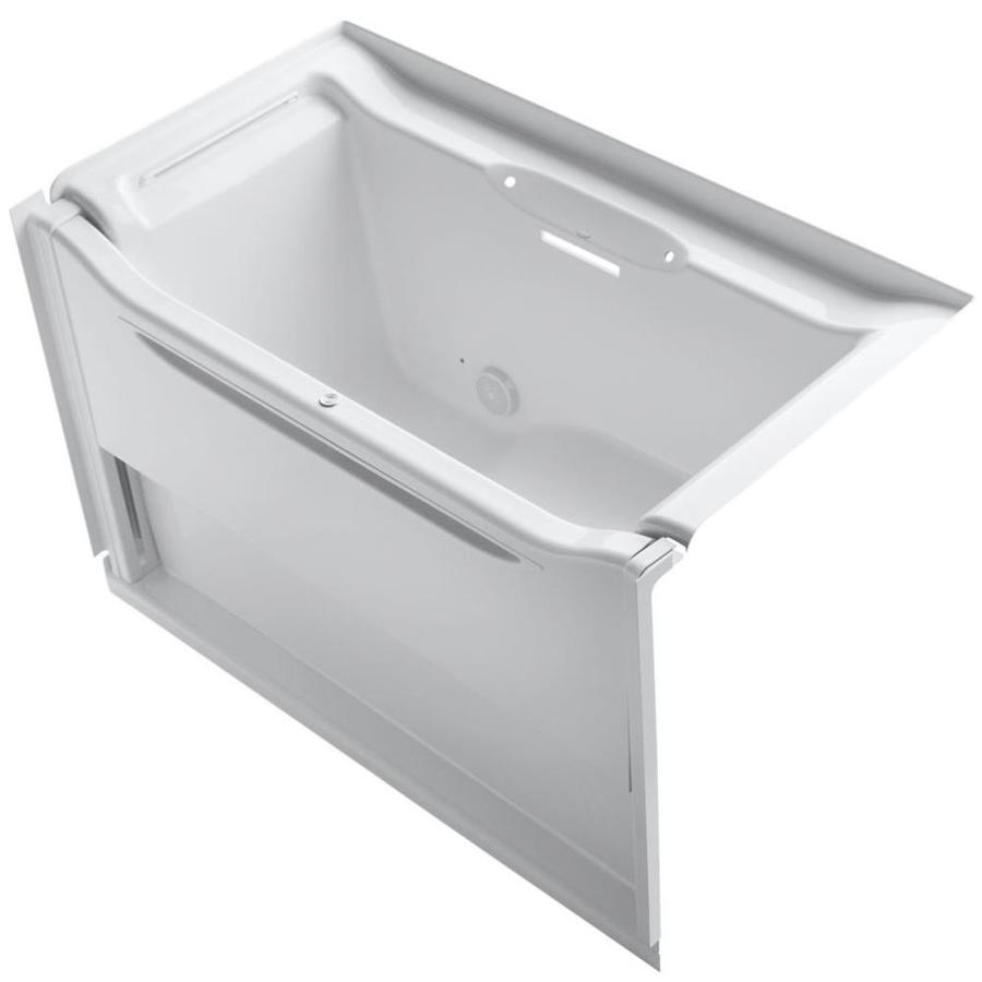 KOHLER Elevance White Acrylic Rectangular Alcove Bathtub with Left-Hand Drain (Common: 34-in x 60-in; Actual: 39.25-in x 33.5-in x 60.25-in)