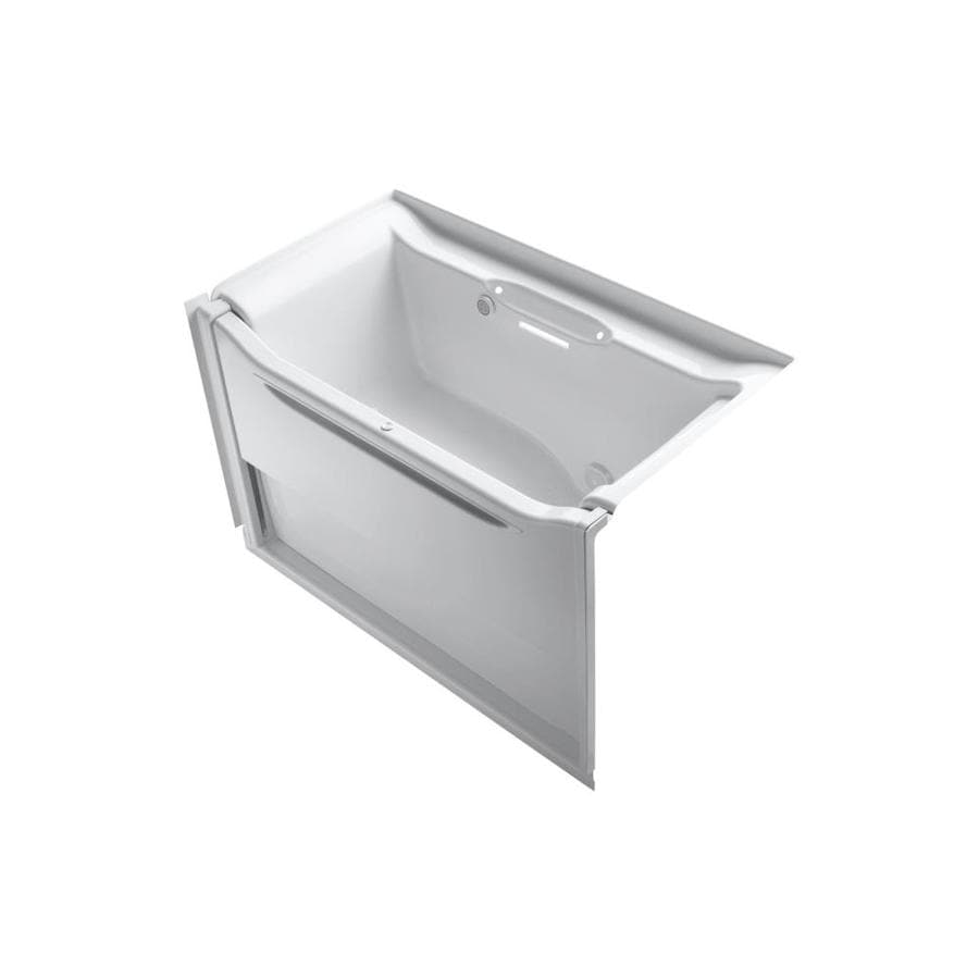 KOHLER Elevance 60.25-in White Acrylic Alcove Air Bath with Right-Hand Drain