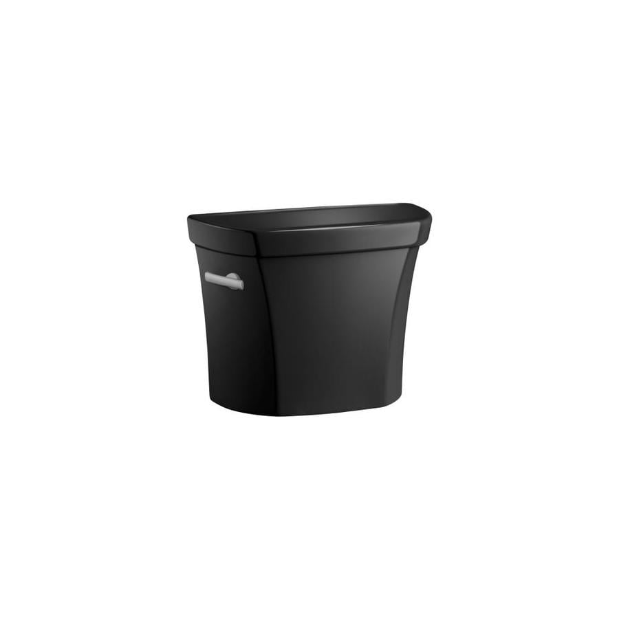 KOHLER Wellworth Black Black 1.28-GPF (4.85-LPF) 12-in Rough-In Single-Flush High-Efficiency Toilet Tank