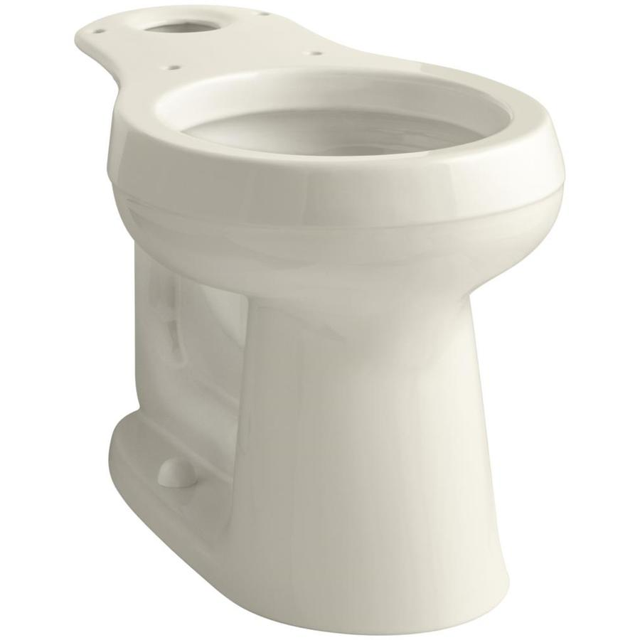 KOHLER Cimarron Chair Height Almond 12-in Rough-In Round Toilet Bowl