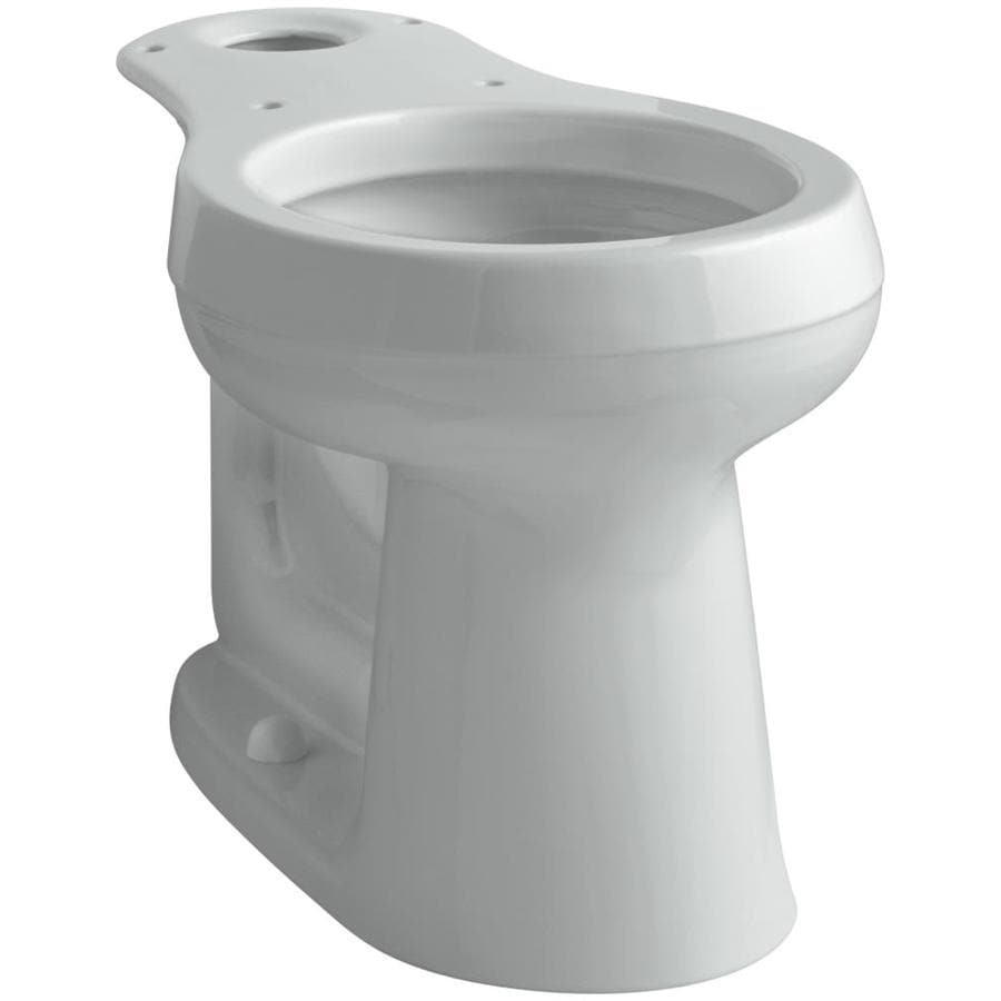 KOHLER Cimarron Chair Height Ice Grey 12-in Rough-In Round Toilet Bowl
