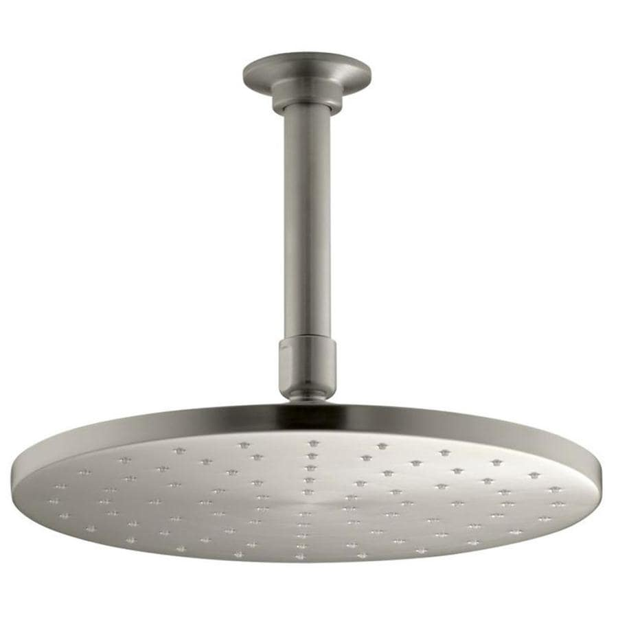 KOHLER Contemporary 10-in 2.5-GPM (9.5-LPM) Vibrant Brushed Nickel 1-Spray Rain Showerhead