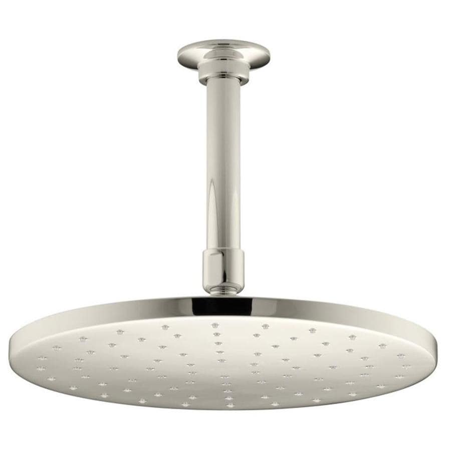 KOHLER Contemporary 10-in 2.5-GPM (9.5-LPM) Vibrant Polished Nickel 1-Spray Rain Showerhead