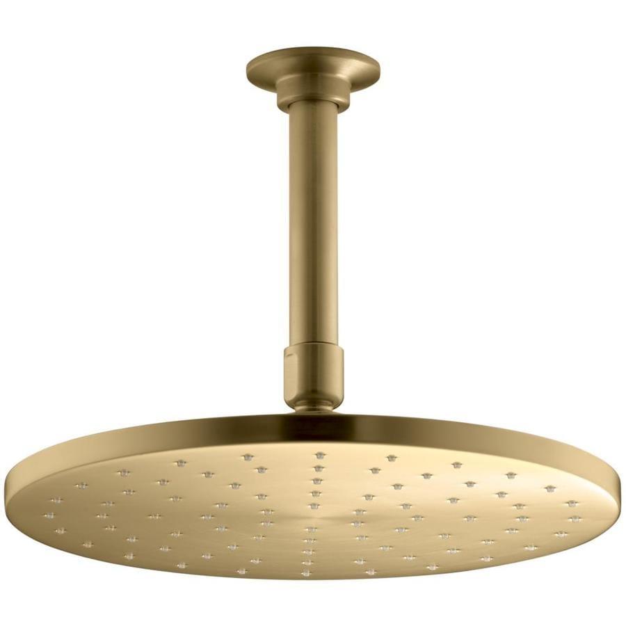 KOHLER Contemporary Vibrant moderne brushed gold 1-Spray Shower Head