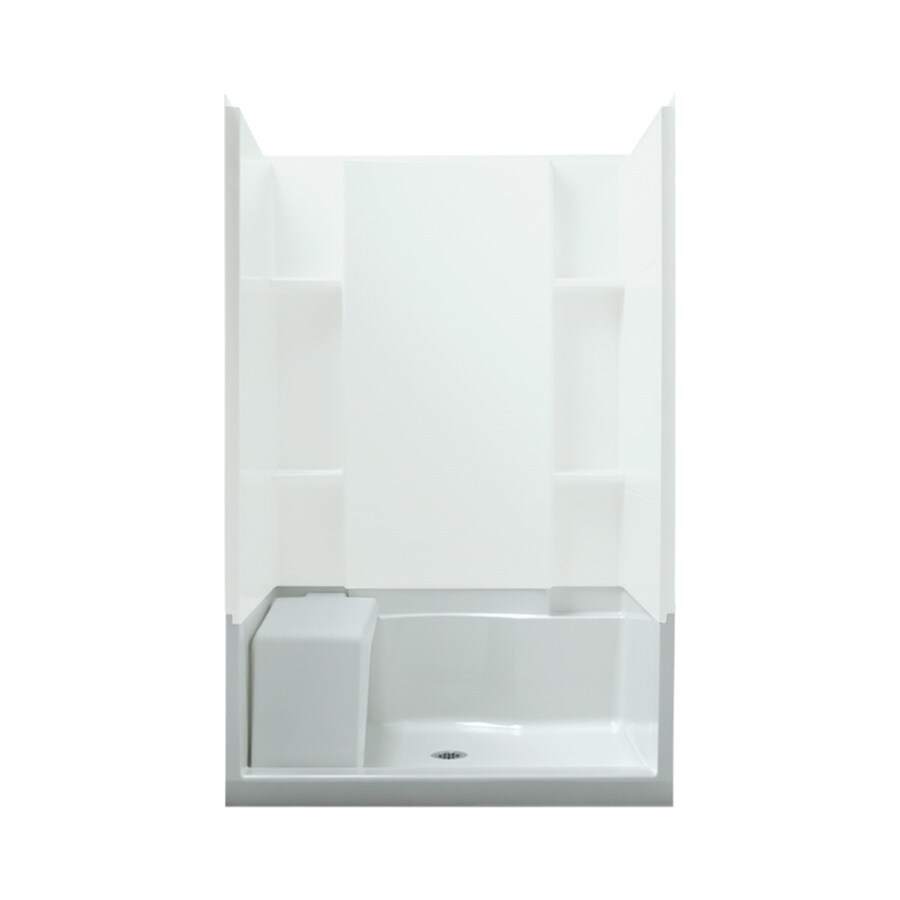 Sterling Accord White Vikrell Shower Base (Common: 48-in W x 36-in L; Actual: 48-in W x 36-in L)