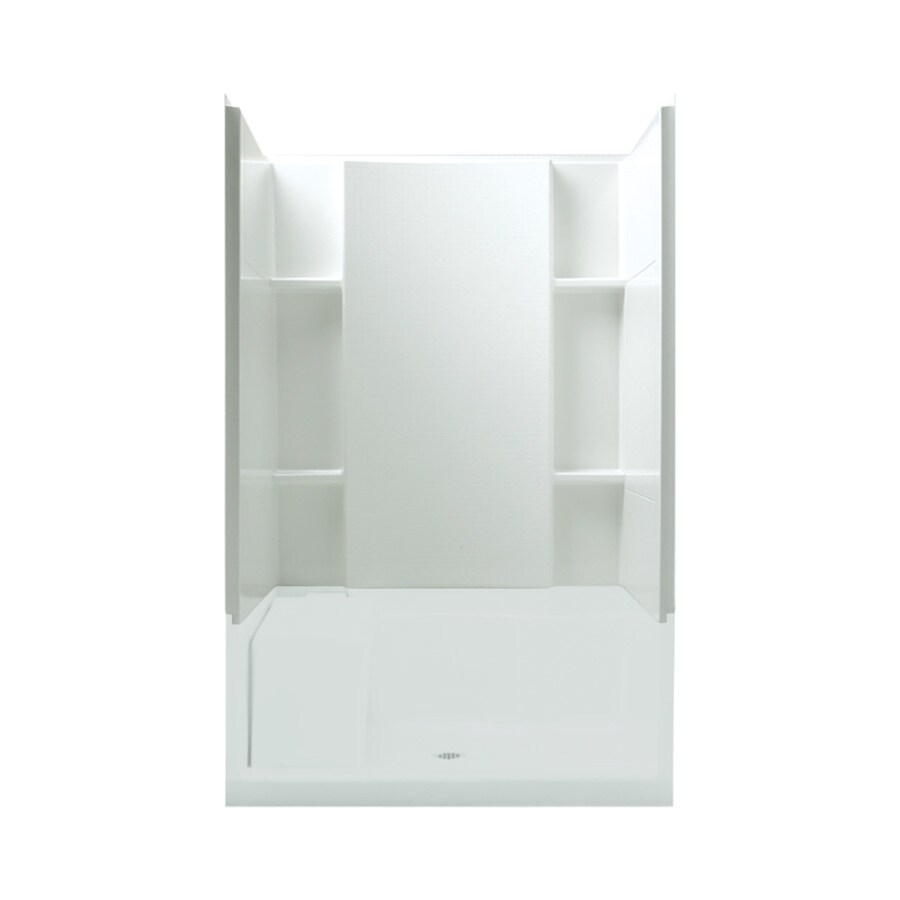 Sterling Accord White Shower Wall Surround Side and Back Wall Kit (Common: 48-in x 36-in; Actual: 55.1250-in x 48-in x 36-in)