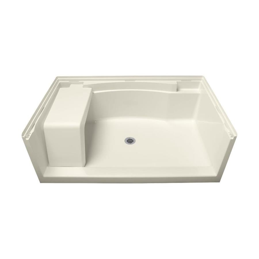 Sterling Accord Biscuit Vikrell Shower Base (Common: 60-in W x 36-in L; Actual: 60-in W x 36-in L)