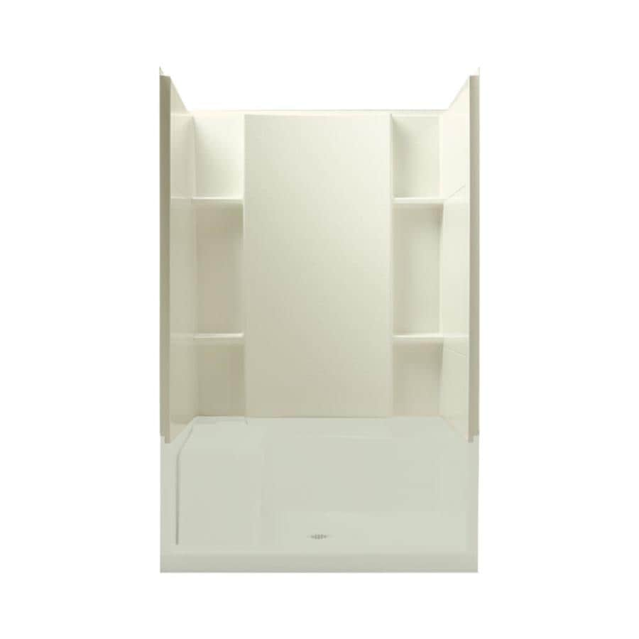 Sterling Accord Biscuit Shower Wall Surround Side and Back Wall Kit (Common: 48-in x 36-in; Actual: 55.1250-in x 48-in x 36-in)