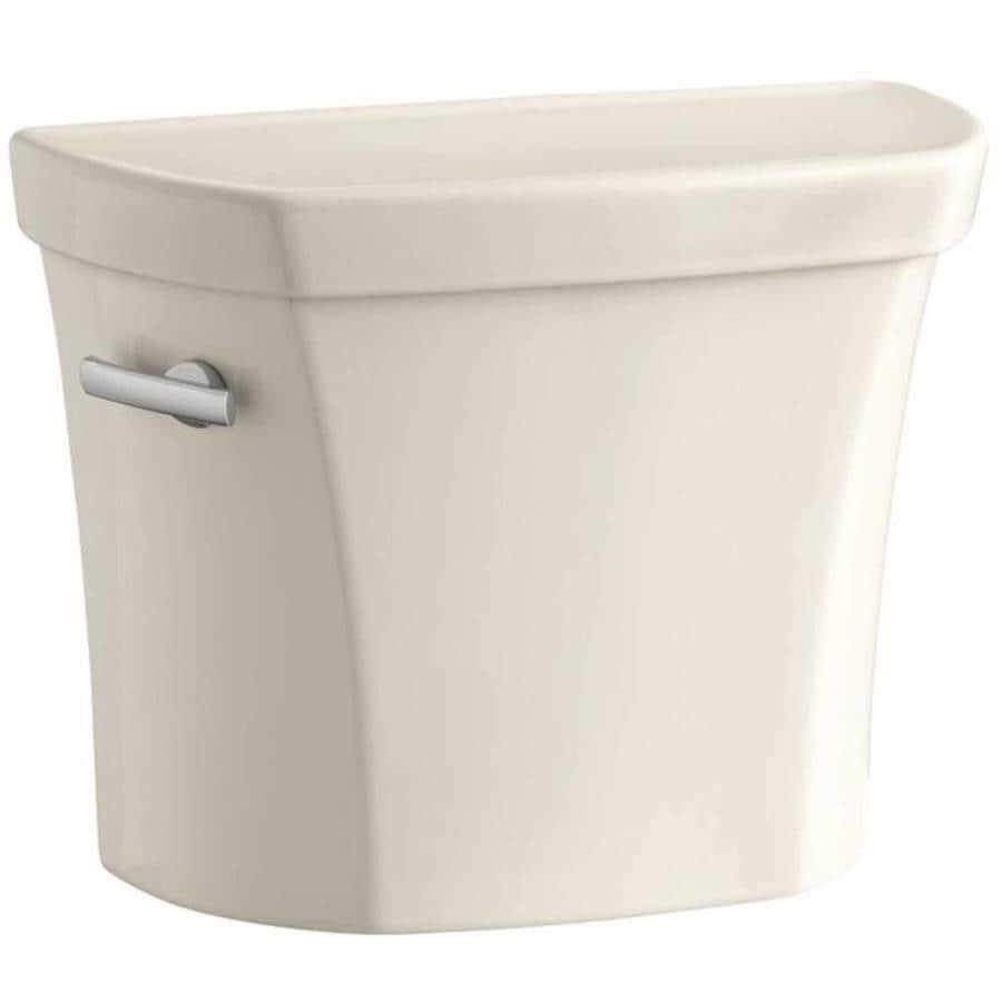 KOHLER Wellworth Almond 1.6-GPF Single-Flush High-Efficiency Toilet Tank