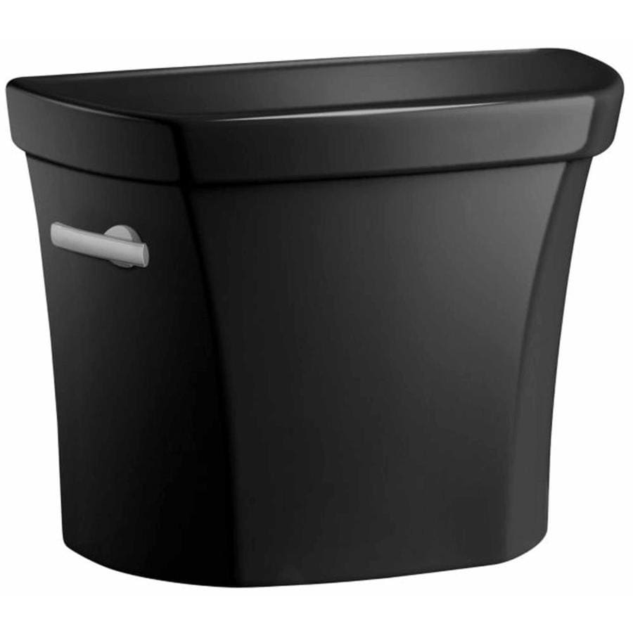 KOHLER Wellworth Black Black 1.6-GPF (6.06-LPF) 12 Rough-In Single-Flush High-Efficiency Toilet Tank