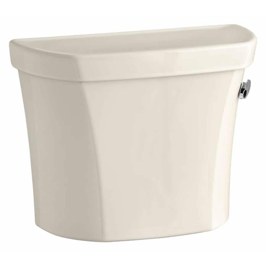 KOHLER Wellworth Almond 1.6-GPF (6.06-LPF) 12 Rough-In Single-Flush High-Efficiency Toilet Tank